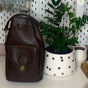 Coach vintage very soft leather backpack